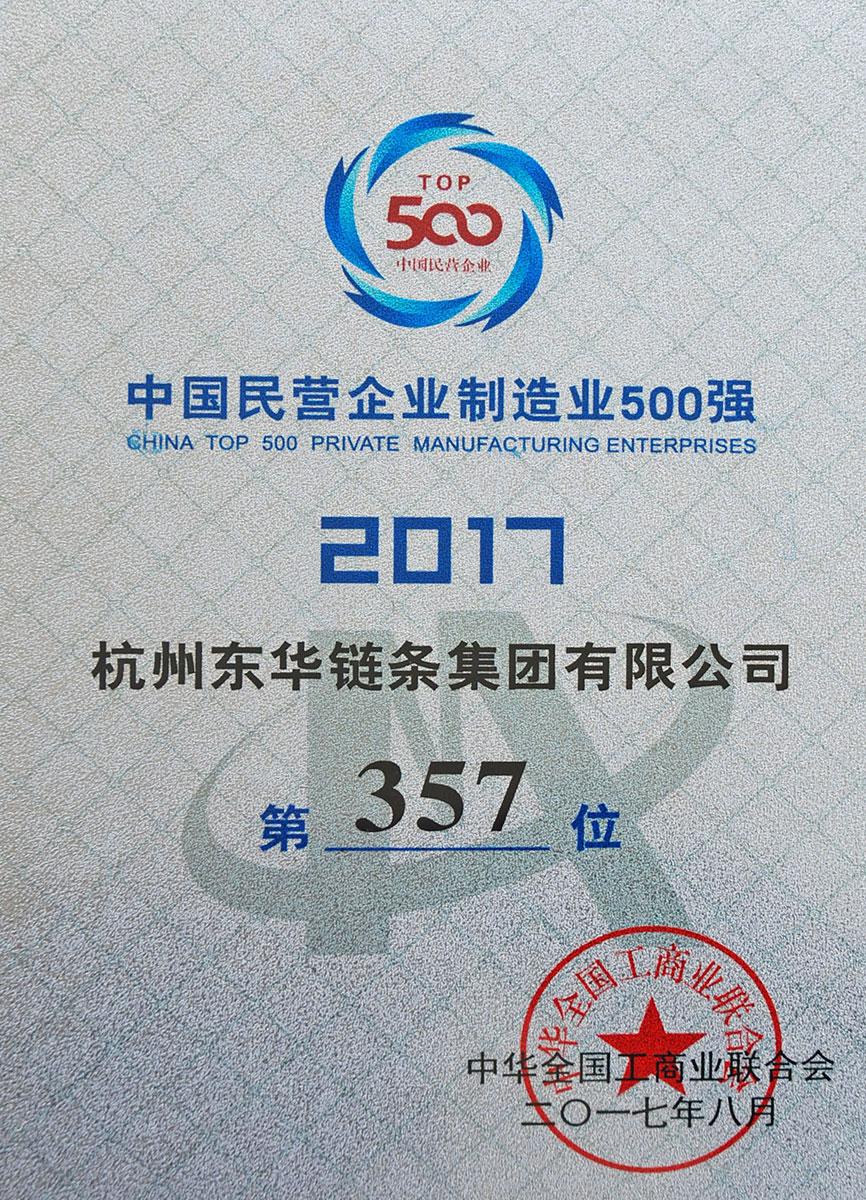 2017中国民营制造业500强