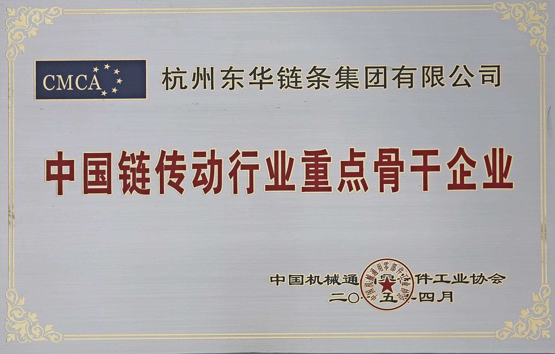中国链传动行业重点骨干企业