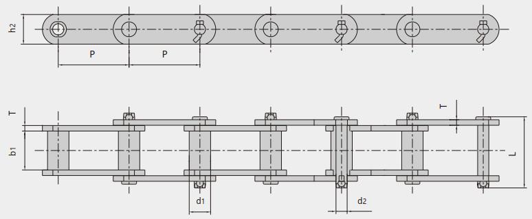 工程用钢制套筒链