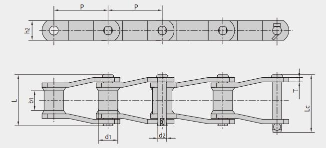 工程用焊接结构弯板链