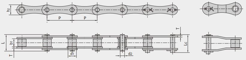 S型、C型钢制滚子链